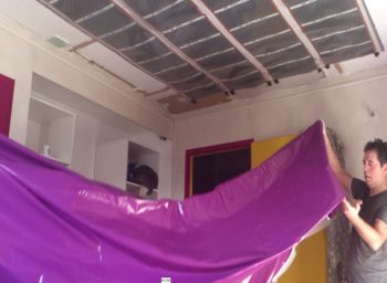 Hire contractor ceiling renovation Jacksonville suspended fabric vinyl glossy stretch ceiling Batica-Renov USA