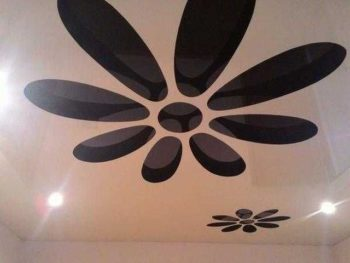 Day and night Stretch ceiling suspended fabric vinyl Glossy Design 5th Wall