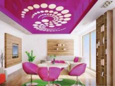 Fort Myers Stretch ceiling suspended fabric vinyl Glossy Design 5th Wall