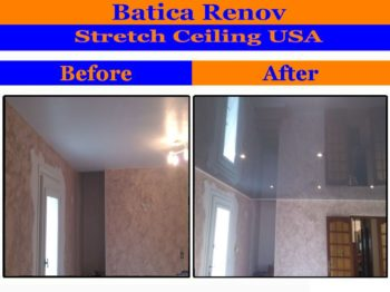 St Petersburg I install stretch ceiling membrane suspended film fabric